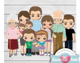Family Kawaii Clipart