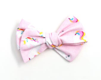 Unicorn Over Size Knotted Bow
