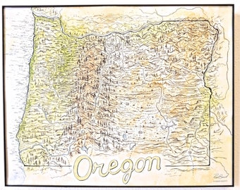 Oregon Terrain Map