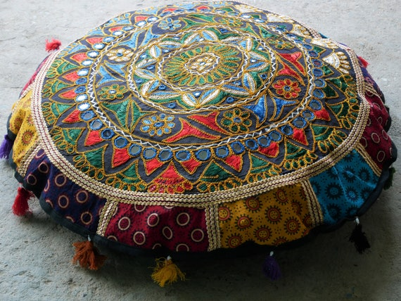Round floor cushion meditation cushion large floor pillow