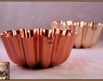 Vintage Copper Tone Baking Form Pan (Set of 2)