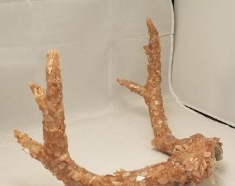 Handmade Sunstone Crystal Antlers