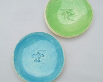 Stamped Sea Turtle Plate