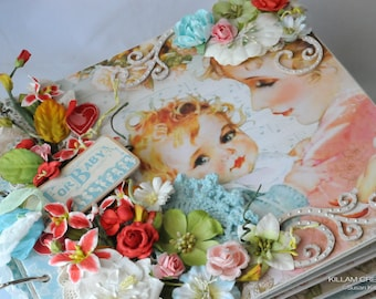 Baby Album, Lullaby, Mini Album, Scrapbook Album, Graphic 45