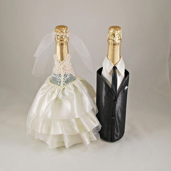 champagne decorations wedding wedding bottle decoration and groom bottles champagne 2543