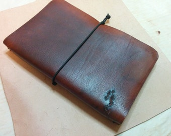 Leather Journal Cover with Moleskine Replaceable Inserts.