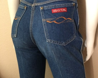 Vintage Women's 80's Braxton, Skinny Jeans, High Waisted, Denim (M)