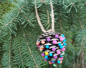 Pine Cone Tree Ornaments (6)
