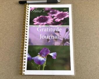 Printable Purple Floral Christian Gratitude and Activity Journal~Gratitude Printable, Digital Download, Instant Download