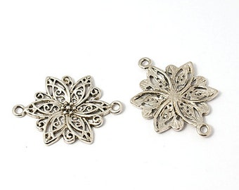 Flower Connector - 6 pieces - #SCON 104