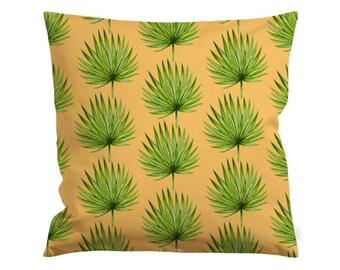 20x20in Fan Palm Pillow Cover