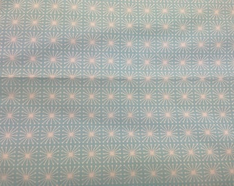 Fabric white turquoise blue small flowers Floral fabric Cotton Fabric House textilies Fabric Scandinavian Design Scandinavian Textile