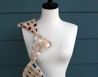 Crochet Scarf Pattern, Thanksgiving, Celebration Pie