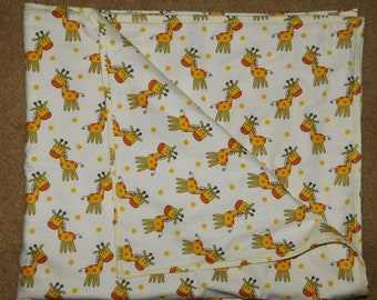 "35"" by 41"" Homemade Snuggle Flannel Reversible Baby Blanket"