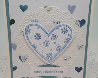 Valentine's Day Card Blue Heart