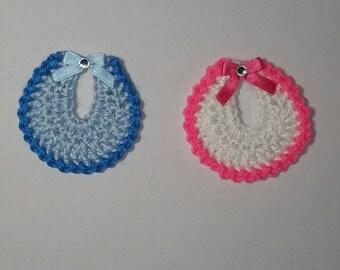 Crochet Baby Shower Souvenirs- Bibs (ON SALE)- Set of 12