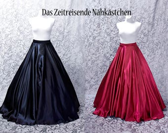 Long circle skirt, suitable for hoop skirts, any colour possible