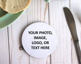 Neoprene Custom Coasters Personalized Coasters Custom Gift Design Your Own Text Here Create Your Own Coaster Set Make Your Own Photo Coaster