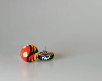 African button earrings, African jewelry, Button earrings, African earrings, Ankara button earrings, Ankara earrings, Ankara jewelry, Africa