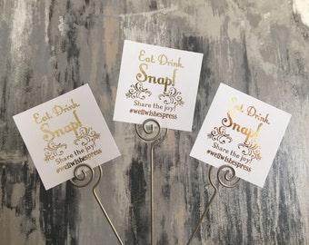 Wedding hashtag sign, instagram wedding, Instagram table cards, reception cards, wedding decor