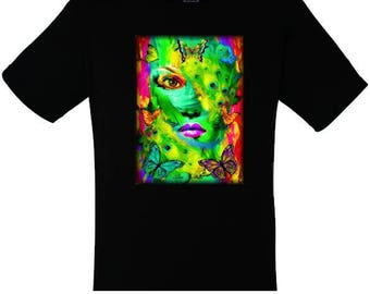 Women's and men's T-shirts butterfly