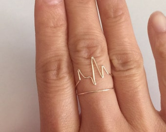 Heartbeat Ring,Pulse Wire Wrap Ring, Nurse Gift Doctor Gift, Bride Girlfriend Gifts, Jewelry Gifts