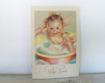 Vintage Newborn Baby Records Book 1939 Illustrated by Lucile Patterson Marsh Brown & Bigalow Cover Charlotte Becker Birth Growth Records