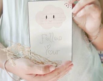 "Card "" Follow Your Dreams"""