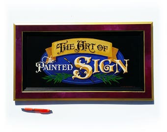 Sign Art wall decor hand painted