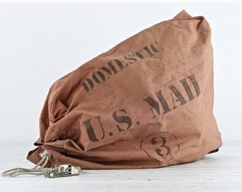 Mail Vintage sac U.S. courrier Postal sac courrier USPS sac courrier Vintage sac industriel ancien Mail sac décor industriel