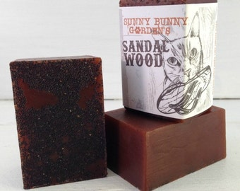 Organic Sandalwood Soap, Manly Soap, Soap Men Love, Wholesale Sandalwood Soap, Gifts For Dad, Gifts For Husband, Sunny Bunny Gardens