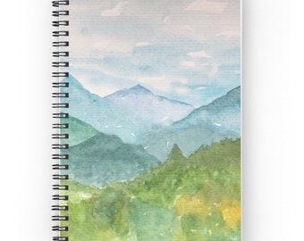 Journal de montagne, cahier à spirale, Journal doublé, Smoky Mountain carnet, journal de balle, journal écrit, peint le bloc-notes journal unique