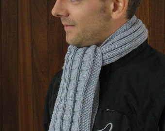 pdf pattern for Fishermens Scarves for Men and Boys by Elizabeth Lovick - instant download