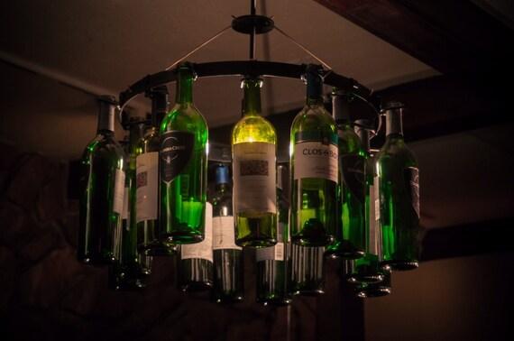 Wine bottle chandelier wine rack light lighting wine decor like this item aloadofball Images