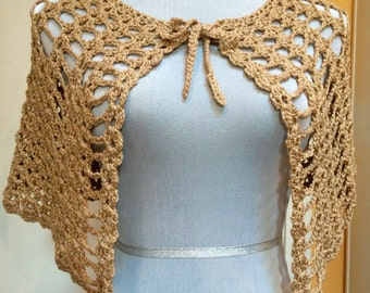 Metallic Gold Capelet