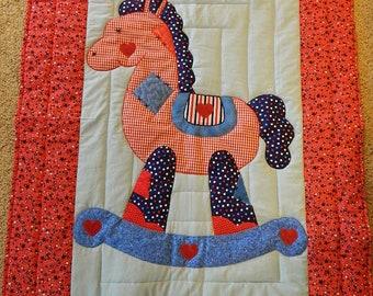 Rocking Horse Quilt, red star