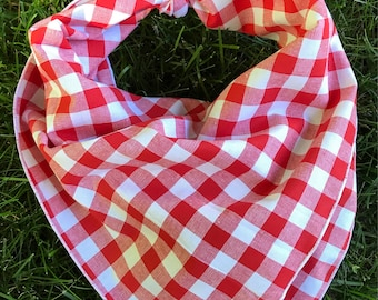 Tucker Dog Bandana | cotton dog bandana | Fourth of July bandana