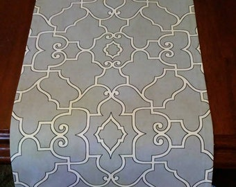 Sale TABLE RUNNER Sterling Silver Table Topper Ready to Ship