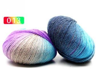 2 - Rainbow Wool Anti-pilling Yarn Skeins - #13