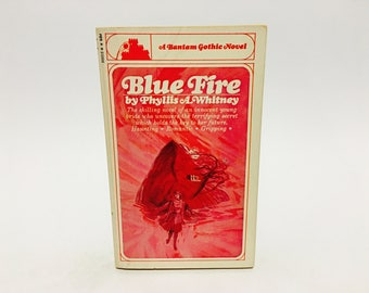 Vintage Gothic Romance Book Blue Fire by Phyllis Whitney 1966 Paperback