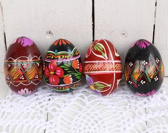 Vintage easter eggs Ukraine folk art Antique easter egg Holiday Easter Eggs handpainted Painted wooden eggs  Easter decor Easter ornaments