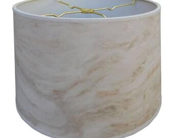 Royal Designs White Marble Texture Hardback Lamp Shade