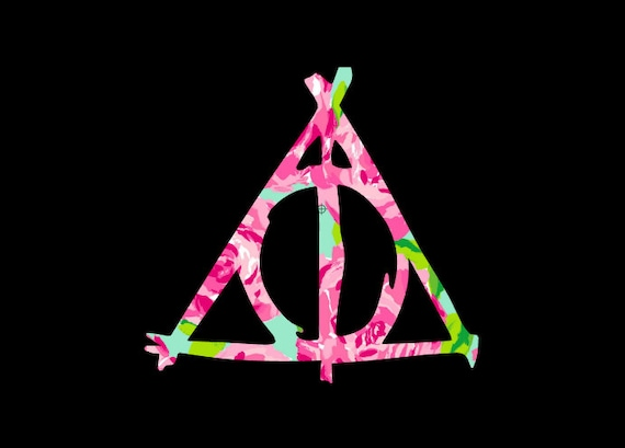 Free Shipping-Harry Potter Decal, Lilly Pulitzer Floral, Sticker,Yeti Decal, Car Decal, Tumbler Decal, Snape, Always, Deathly Hollows