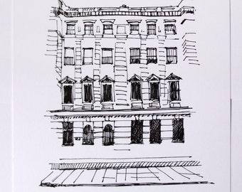 Original Ink Drawing, London Architecture, London Art