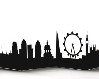 London Cityscape Silhouette Skyline Card