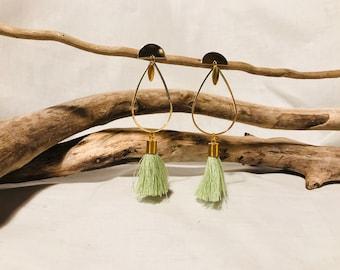 Green Spring18 drop earrings