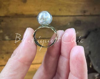 Dandelion ring, real dandelion, wish ring, botanical jewelry, mini, pusteblume