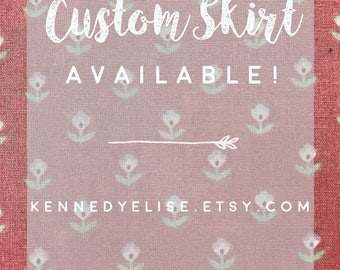 REDUCED 50s Style Modest Retro Full Gathered Skirt | Midi Floral Custom Skirt | JW Fashion Knee Length Skirt | Plus Size Full Midi Skirt
