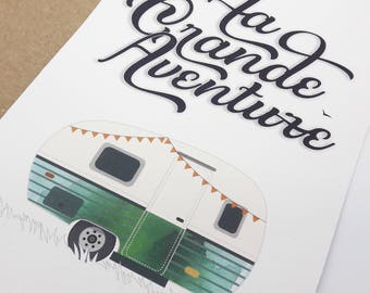 The great adventure - caravan color card