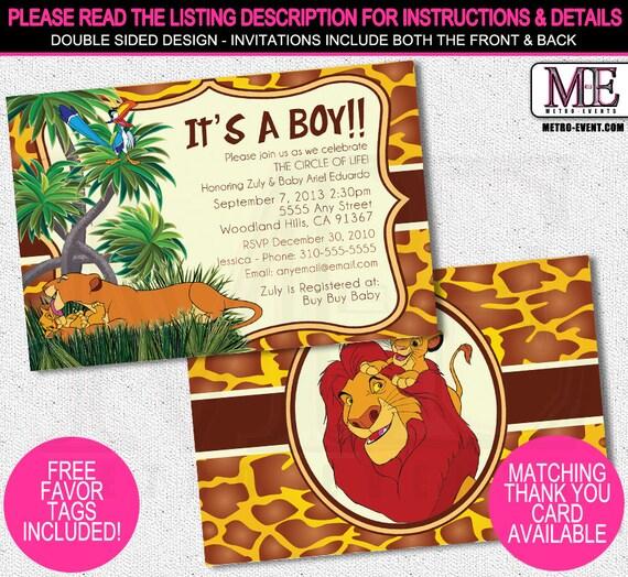 Lion king baby shower invitations custom baby shower lion king baby shower invitations custom baby shower invitations filmwisefo Choice Image